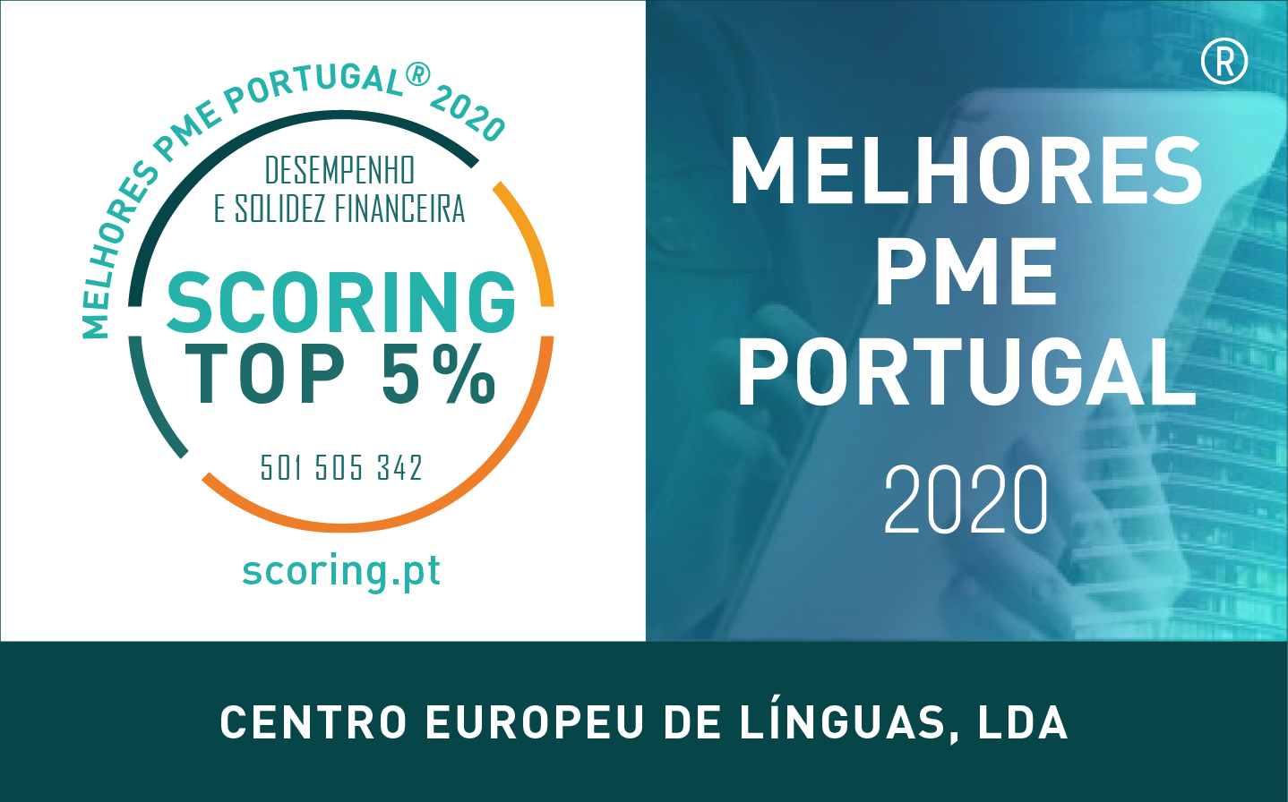 CENTRO EUROPEU DE LÍNGUAS - 501505342 - Selo TOP5 2020 Composto Nome